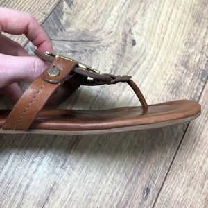 Tory Burch Shoes - Tory Burch Miller Sandal Brown Leather & Gold